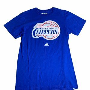 adidas Shirts - Adidas Los Angeles Clippers Blue Tee